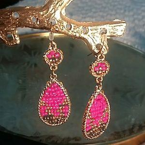 Jewelry - Tear drop beaded earrings